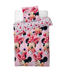 disney minnie mouse love single bedding