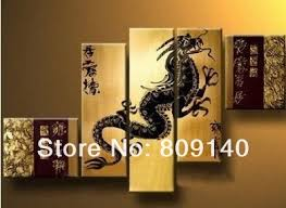 feng shui art for office. feng shui oil painting dragon decoration japanese modern art canvas quality handmade home office hotel wall decor free ship for r