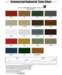 Mbci Color Chart Building Options Christian Brothers Welding