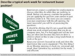 restaurant busser interview questions documents tips sharing restaurant busser interview questions documents tips sharing is our passion