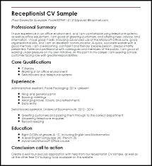 Admin Job Profile Resume Receptionist Job Description Template Medical Office Resume