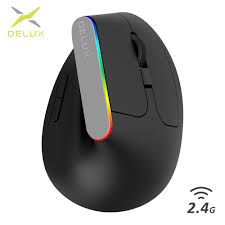 <b>Delux M618C Wireless Mouse</b> 2.4GHz Ergonomic Vertical Mouse 6 ...