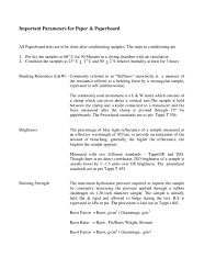Pdf Important Parameters For Paper Paperboard Luciana