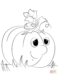 Small Picture Cute Cartoon Pumpkin coloring page Free Printable Coloring Pages