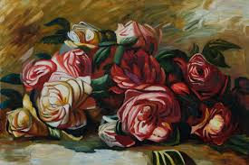 2018 pierre auguste renoir paintings for discarded roses modern art home decor high quality handmade from cherry02016 81 16 dhgate com