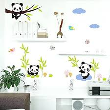 panda wall decal panda wall stickers  on panda wall art uk with panda wall decal panda wall decal us canvas art rocks panda wall