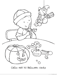 Caillou And Halloween Coloring Pages For