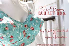 Bra Sewing Patterns Extraordinary The Vintage Pattern Files 48's Sewing The VaVoom Bullet Bra