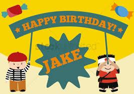 Birthday Boy Banner Design Boys Holding Happy Birthday Banner Vector Image 1398688
