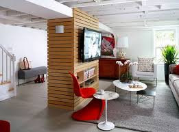 Designer Basements Impressive 48 Modern And Contemporary Living Room Basement Designs Home
