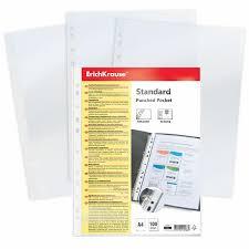 Купить <b>Папки</b>-<b>файлы перфорированные</b>, A4, ERICH KRAUSE ...