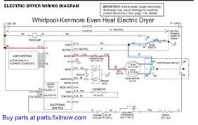 wiring diagrams and schematics appliantology Whirlpool Washer Parts Diagram whirlpool kenmore even heat dryer schematic diagram with motor power circuit highlighted
