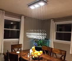dining room ceiling light crystal raindrop chandelier lighting flush mount led ceiling light fixture pendant lamp for dining room bathroom dining room