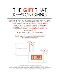 gift card promotion with bunulu