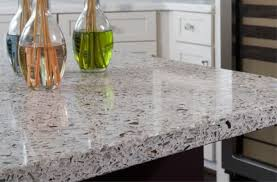 recycled glass countertops zen gray kitchen island bottle