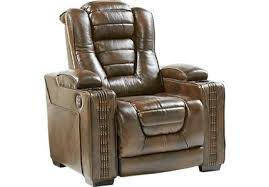 dark brown leather recliner chair. Eric Church Highway To Home Renegade Brown Leather Power Plus Recliner Dark Chair C