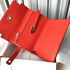 hermes kelly wallet price. hermès kelly compact wallet wallets leather orange ref.27771 - joli closet hermes price