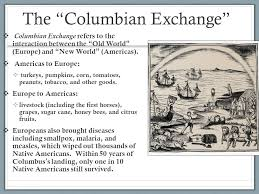 essay about exchange columbian exchange matt jpg