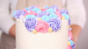 Step By Step Pastry Chef Piping Butter Cream Frosting On Unicorn