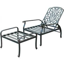 Patio Recliner Chairs Darlee Elisabeth Cast Aluminum Patio Reclining Club Chair And