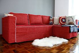 contrast piping on our manstad sofa a