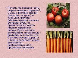 Реферат Изучение содержания полезных веществ в овощах фруктах  Полезные овощи реферат