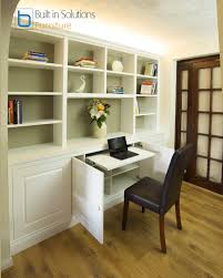 hidden desk furniture. these built in cabinets and shelving with raised panel doors feature a pull out desk hidden furniture c