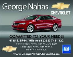 George Nahas Chevrolet Matters Of The Home