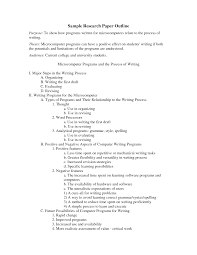 Report Outline Example Examples Of An For Research Paper Apa