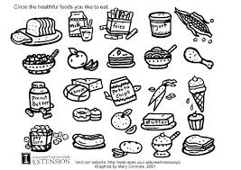 Coloring Sheet Healthy Food Healthy Food Coloring Pages Printable