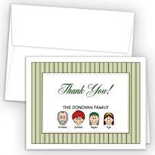 Stripes Foldover Family Thank You Cards