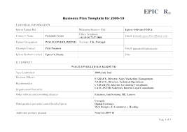 simple one page business plan template business plan template word