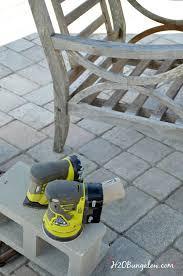 Restore Outdoor Teak Furniture Tutorial H20Bungalow
