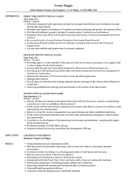 marketing and sales cv institutional sales resume samples velvet jobs