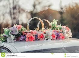 Wedding Car Decorate Wedding Car Decoration Gold Rings Stock Photo Image 50281551