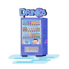 Vending Machine Cartoon Magnificent Vending Machine With Drinks Vector Flat Cartoon Illustration Stock
