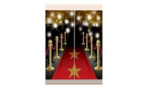 red carpet hollywood scene setter happy birthday party wall decoration