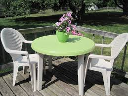 white plastic patio table and chairs. Decor White Plastic Patio Furniture With Chairs To Complement Your Outdoor Room Paramitopia Com Table And .