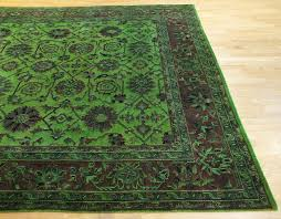 rugsville lime green wool overdyed rug 9 x 12