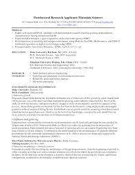 Postdoc Resume Sample