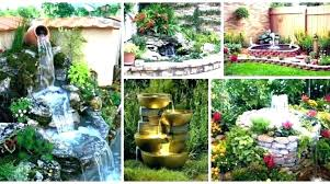how patio fountains and waterfalls diy solar powered waterfall pond fountain l tabletop garden water