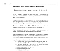 educating rita directing act scene gcse english marked  document image preview