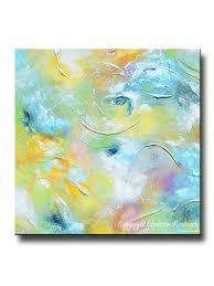 giclee print art abstract painting aqua blue white moderncoastal canvas prints home decor  on blue and white canvas wall art with giclee print art abstract painting aqua blue white moderncoastal