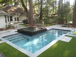 custom inground pools. Raised Spa With Negative Edge Spill Over Custom Swimming Pools Inground I