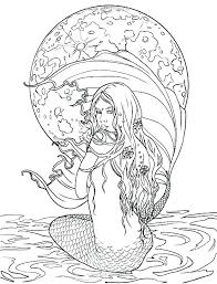 Printable Mermaid Coloring Pages The Little Mermaid Coloring Pages
