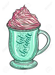 hot chocolate with whipped cream clip art.  Art Decorative Hand Drawn Doodle Vector Illustration Hot Chocolate Or Coffee  In A Mug With Whipped To Chocolate With Whipped Cream Clip Art C