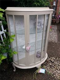 glass cabinet furniture. exellent cabinet charming shabby chic display cabinet finished with annie sloan paint inside glass cabinet furniture