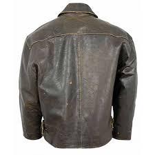 mens flight distressed vintage brown leather jacket