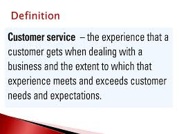 Great Customer Service Means Unit 1 Topic Must Learn What Customer Service Means And