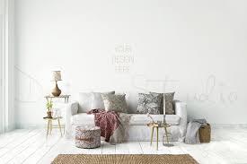 L Interior PSD Living Room Photo  Product Mockups